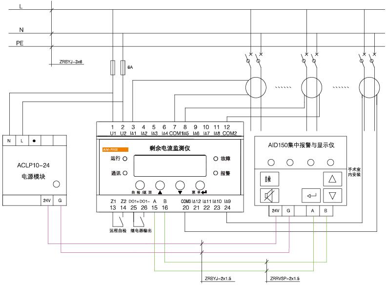 超温设备故障报警装置 医用剩余电流监测 安科瑞AID120 远程设置报警值示例图4