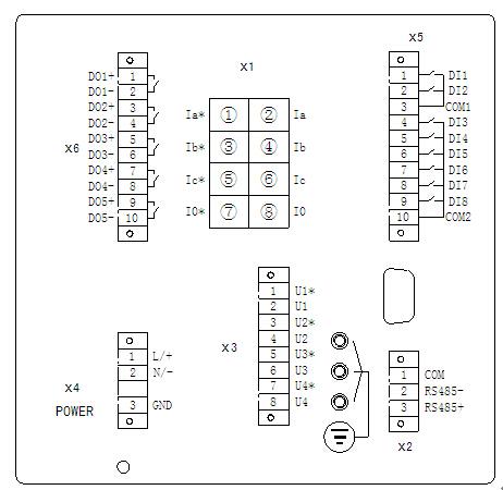 三相电动机保护装置接线图