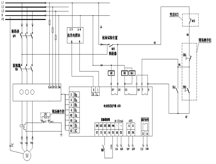 ,本文主要对安科瑞ARD2F保护器的功能及其在某石油化工行业的应用进行具体介绍。 2、石油化工对保护器功能要求 石油化工行业电机是大容量、高负荷连续运转的设备,因而对其可靠性、稳定性及功能要求极高,某石油化工运行电机对ARD2F保护器具体功能要求为: (1)过载保护功能 电动机在过负载情况下,长时间超过其额定电流运行时,会导致电动机过热,绝缘降低而烧毁,保护器根据电动机的发热特性,计算电动机的热容量,模拟电动机发热特性对电动机进行保护,当保护器监测到电动机过载运行了,保护器应在报警或脱扣(延时)设定时间内