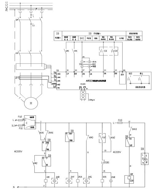 电机启动指示灯接线图